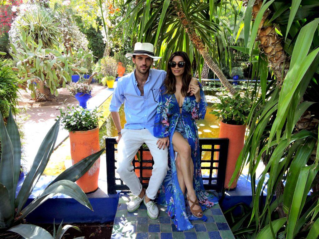 Silviu Tolu și Lili Sandu la Jardin Majorelle, Maroc